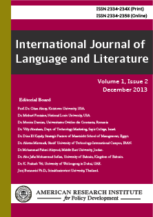 International Journal of Language & Literature (IJLL)